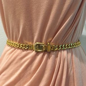 GUCCI Gold-plated Cuban Link Chain Belt